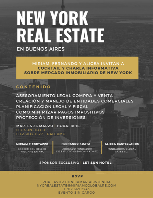 New York Real Estate in Buenos Aires
